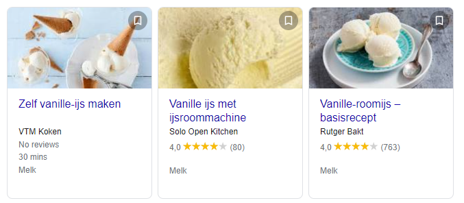 rich cards in google
